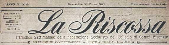 La Riscossa, settimanale socialista