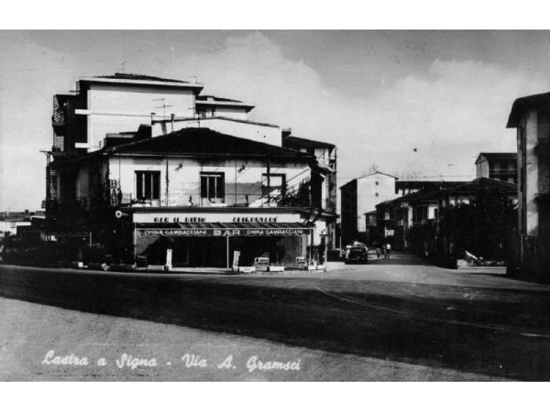 Lastra, incrocio via Gramsci - via Livornese 1960